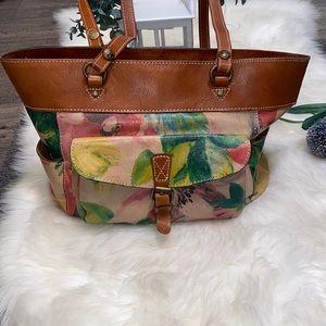 patricia nash bag floral italian leather